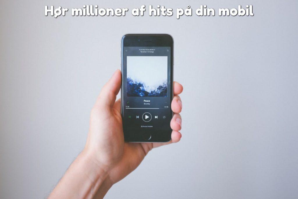 Hør millioner af hits på din mobil